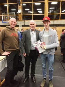 Jörg Domaowski, Landrat Herbert Eckstein und Simon Maurer